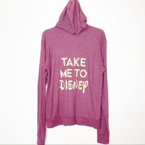 Disney Large ZIP Up Sweatshirt Hoodie Take Me To